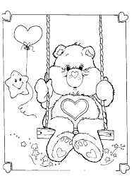 Small Picture Care Bear having a swing coloring page Crafty 80s Care Bears