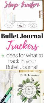 8 ways to use a bullet journal tracker plus tons of ideas of what to track