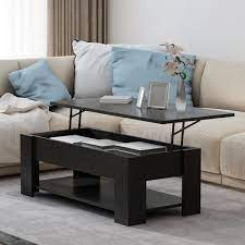black lift top coffee table with