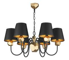 gallery of upgradelights set of 6 black 5 inch w gold lining chandelier lamp practical shades qualified 0