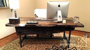 rustic office desk. Rustic Office Table Desk Plans To Build Your Own Simplified Building Desks Cool