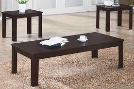 coffee table set in dark brown zoom