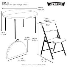 lifetime 48 inch round table and 4 chairs combo photo