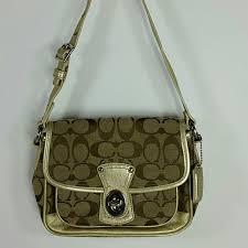 Coach Monogram Turn Lock Shoulder Bag