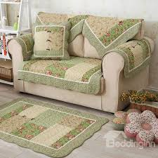 65 winter cotton handmade three dimensional embroidery country style green cushion sofa covers