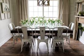 farmhouse table with metal chairs 1 i get asked quite often about these metal chairs so i ll link similar ones below for you for ours i wanted the high