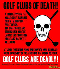 Image result for breaking a golf shaft getting hurt pics