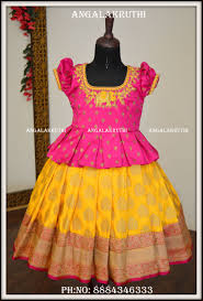 Full Blouse Designs For Children S Kids Pattu Pavada Designs By Angalakruthi Boutique I N