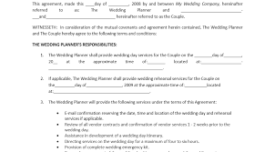 wedding planning contract templates wedding amazing wedding planner contract 7 best images of