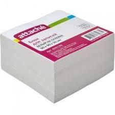 Купить Блок-кубик <b>ATTACHE ЭКОНОМ</b> на склейке 9х9х5 белый ...