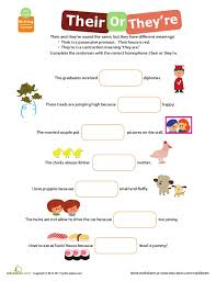 Worksheet #612792: Their There They Re Worksheet – Homophones ...