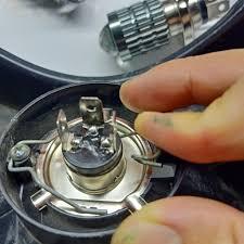 Review đèn xe máy bi cầu 2 chế độ chân h4 led