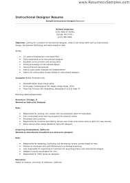 Instructional Designer Resume Simple Resume Examples For 48 Years Experience Fruityidea Resume