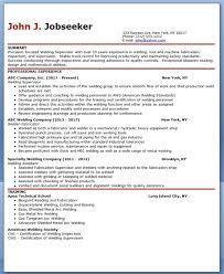 welder supervisor resume samples supervisor resume sample