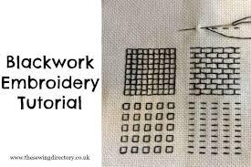Free Blackwork Embroidery Charts Blackwork Embroidery Tutorial