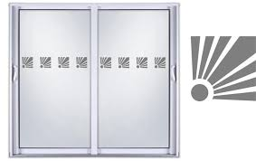 etched glass vinyl glass shower doors