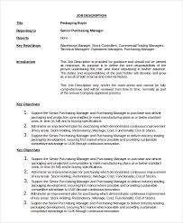 10+ Sample Buyer Job Descriptions | Sample Templates