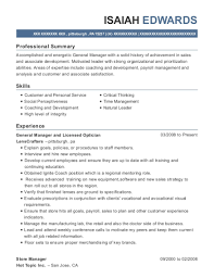 Optician Resumes Lenscrafters General Manager And Licensed Optician Resume Sample