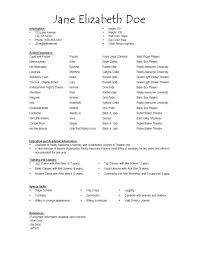 Special Skills For Resume Acting Resume Skills Sample Of Special