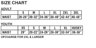 Champro Softball Pants Size Chart Champro Fp10 Goal Line Poly Spandex Football Pant Closeout Item