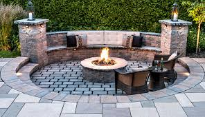 outdoor fire pit cozy innovative valencia with sitting wall