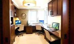 Two Person Office Layout Astonishing Home Office Setup Ideas Gallery