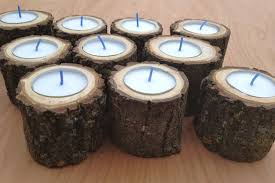 ... Tea Lightandle Holders Home Decor Wood Log For By Driedflowersforever  Il Fullxfull Impressive Images Inspirations Gold