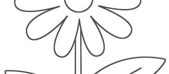 Easy Coloring Pages Of Flowers The Weekly World