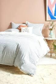 blue and white bedding relaxed cotton linen duvet cover blue white stripes blue white bedding red