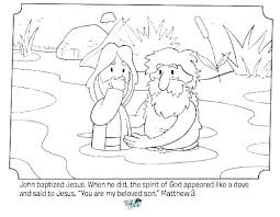 John The Baptist Coloring Page Full Size Of Baptism Colouring Pages