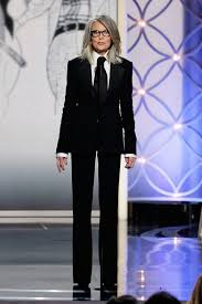 Golden Globes: Diane Keaton Accepts Woody Allen's Cecil B. DeMille Award   Diane  keaton, Fashion, Style