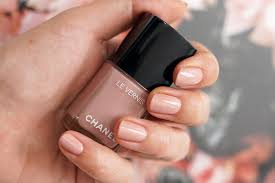 chanel organdi nail polish swatch best pink polish color