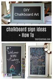 do you want to make chalkboard art diy chalkboard signs start here