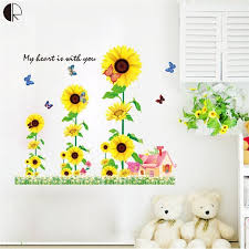 Image Farmhouse Beautiful Sunflower Home Decor Wall Stickers Love House Decoration Vinyls Wall For Kitchen Glass Bathroon Wallpaper Decal Hh1278 Walmart Beautiful Sunflower Home Decor Wall Stickers Love House Decoration