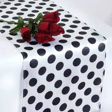 round black and white polka dot tablecloth polka dot satin table runner white black black and