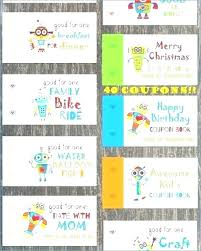 Kids Coupon Book Template Free Printable Valentine For Web