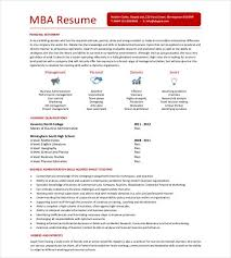 Mba Resume Template  11+ Free Samples, Examples, Format Download within Business  School