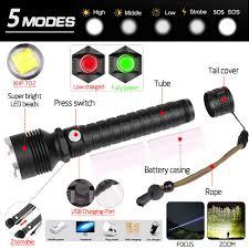 80000 lumens Đèn pin Led XHP70.2 Mạnh Nhất Đèn pin Led USB Zoom XHP70 XHP50  18650 26650 Sạc Tốt Nhất Đèn Cắm Trại ánh sáng|Đèn Flash & Đèn Pin