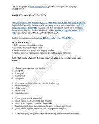 Sehingga bisa diakses, dilihat, dibaca, dan juga diunduh oleh semua siswa di seluruh indonesia. 40 Contoh Soal Ips Terpadu Kelas 7 Smp Mts Dan Kunci Jawaban