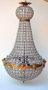 vintage european art nouveau crystal chandelier