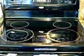 glass top electric range cleaning electric cleaning electric glass top electric stove replacement burners cleaning under