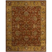 handmade heritage timeless traditional rust beige wool rug safavieh blue brown area