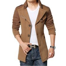 coats for men 2017 brand winter jacket coat men turnd down collar slim fit mens