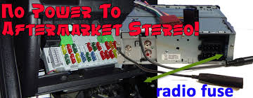 no power to aftermarket stereo! radiodashkits car stereo car stereo fuse at Car Stereo Fuse