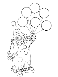 Small Picture Free Printable Clown Coloring Pages For Kids