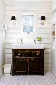 Timber Bathroom Accessories Bathroom Tiny Guest Bathroom With Antique Vanity And Timber Wall