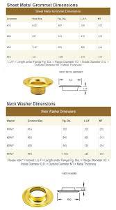 Sheet Metal Neck Washer Size Chart Grommet Mart
