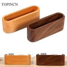 wood wedding card box with slot wooden business holder desktop display stand case storage office desk