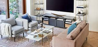 oriental rug casual mid century modern living room inspiration west elm warms rooms paint color apartment interior design