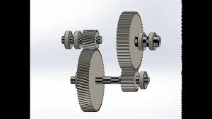 Speed Reduction Gearbox Design Solidworks Two Stage Reduction Gear Box By A Karl